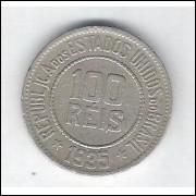 1935 - Brasil, 100 Réis, cuproníquel, mbc..
