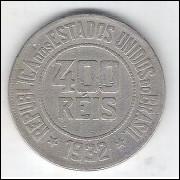 1932 - Brasil, 400 Réis, cuproníquel, mbc.