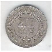 1932 - Brasil, 200 Réis, cuproníquel, mbc.