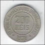 1930 - Brasil, 200 Réis, cuproníquel, mbc.