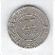 1928 - Brasil, 100 Réis, cuproníquel, mbc.