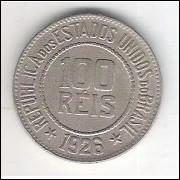 1926 - Brasil, 100 Réis, cuproníquel, soberba.