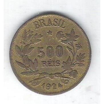 1924 - 500 Réis, bronze-alumínio, soberba.