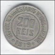 1919 - Brasil, 200 Réis, cuproníquel, mbc.