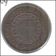 1909 - Brasil, 40 Réis, bronze, s/fc.
