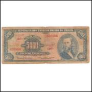 C059 - 5.000 Cruzeiros 1964 Estampa 1a Valor Legal, Sérgio A. Ribeiro-Bulhões,bc/mbc. Tiradentes