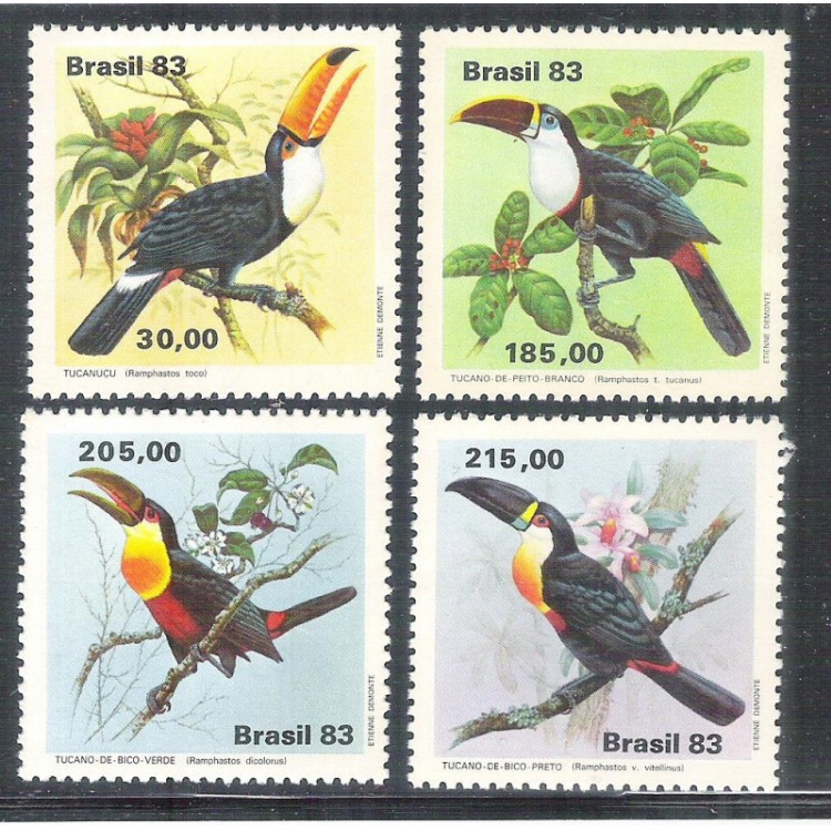 1983 - C-1321-4 - Fauna Brasileira - Tucanos - Pássaros.