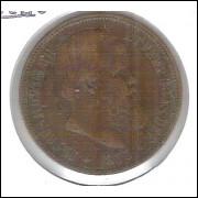 1873 - 40 Réis, bronze, mbc++, Brasil-Império, D. Pedro II.