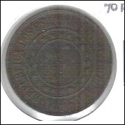 1908 - Brasil, 40 Réis, bronze, bc/mbc