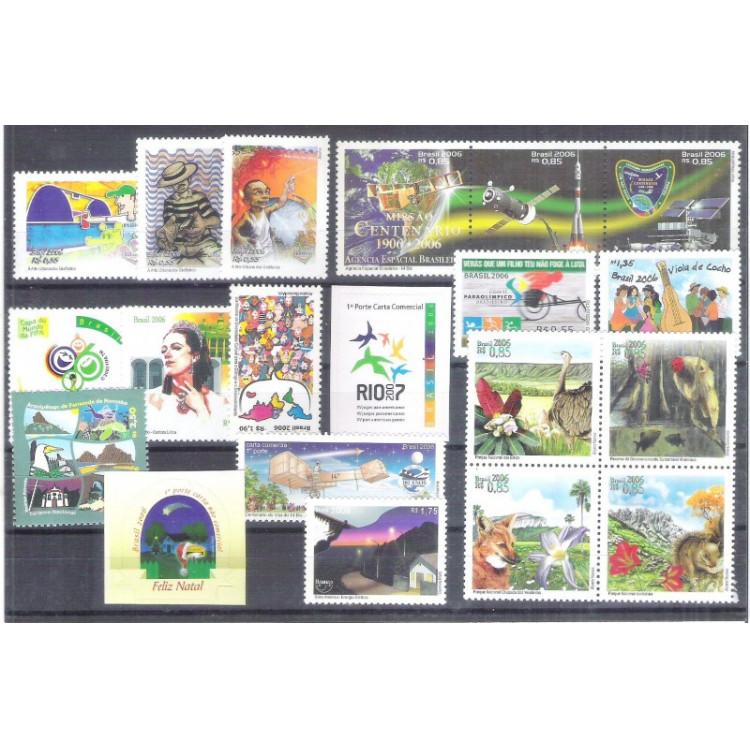2006 - Coleção dos 20 selos comemorativos, novos. MINT