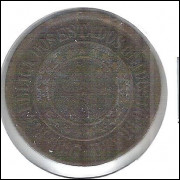 1897 - Brasil, 40 Réis, bronze, bc