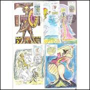 max014/18 - 1974  - Lendas Populares. Folclore. Série completa, 4 máximos.