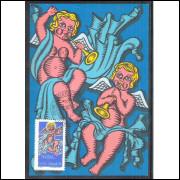 max034 - 1974  - Natal. Religião, anjos, música.