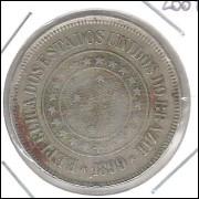 1899 - Brasil, 200 Réis, cuproníquel, mbc.
