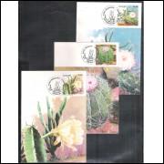 max082-4 - 1983 Série Flora Brasileira. Xique-xique, Coroa de Frade e Mandacaru.