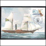 max085 - 1984 Centenário do Museu Naval e Oceanográfico. Caravela, embarcação, navio.