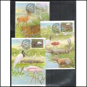 max098-100 - 1984 Série Pantanal. Fauna e Flora.