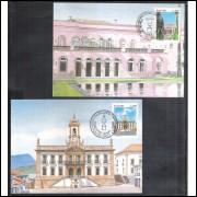 max120-1 - 1985 Museu da Inconfidência (Ouro Preto-MG) e do Itamaraty (Rio de Janeiro). Arquitetura
