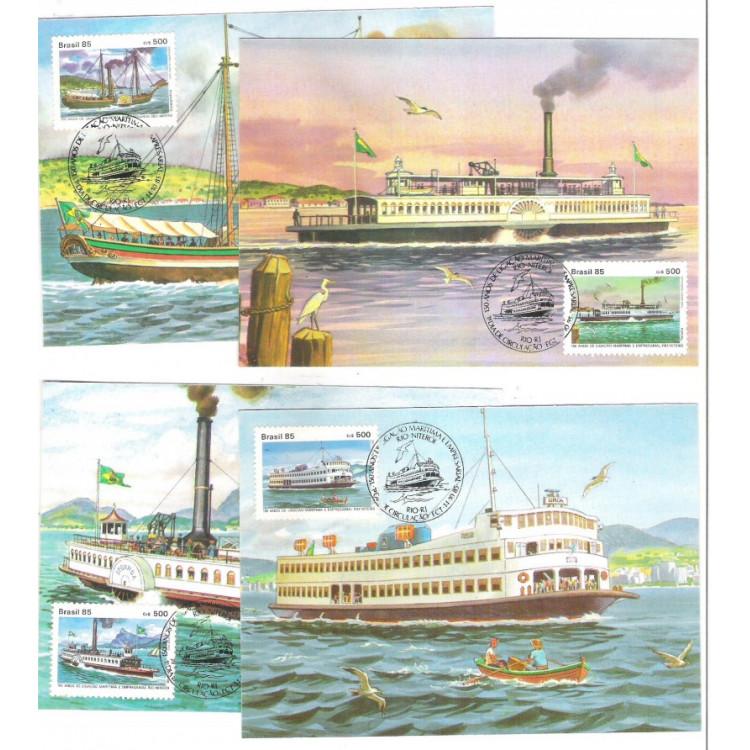 max126-9 - 1985 150 Anos da ligação marítima Rio-Niterói. Embarcações.