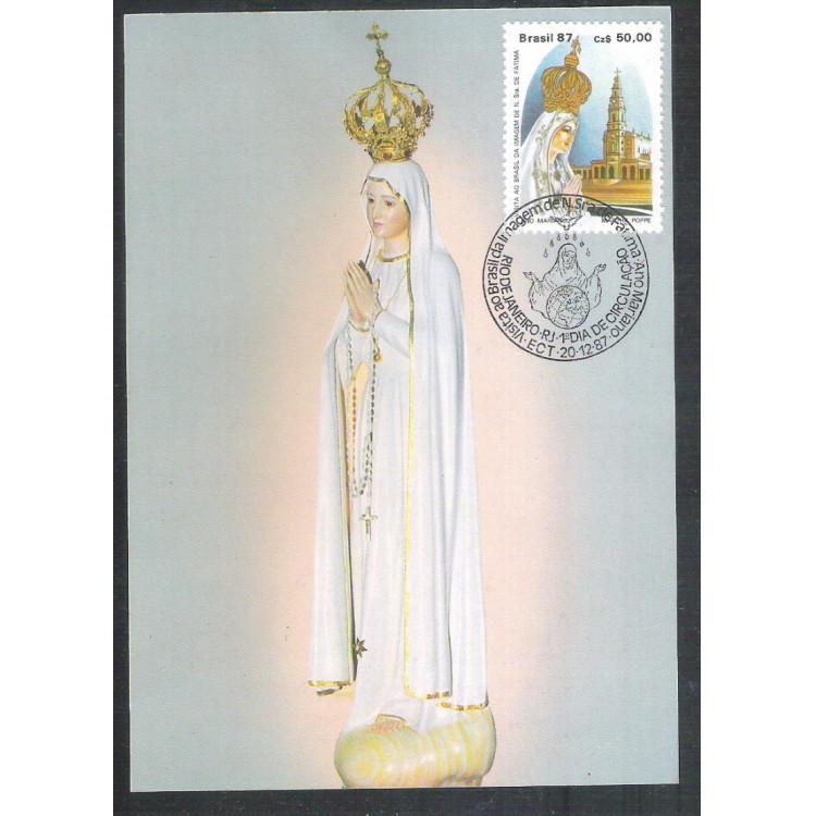 max135 - 1987 Visita da Imagem de Nossa Senhora de Fátima ao Brasil. Religião.