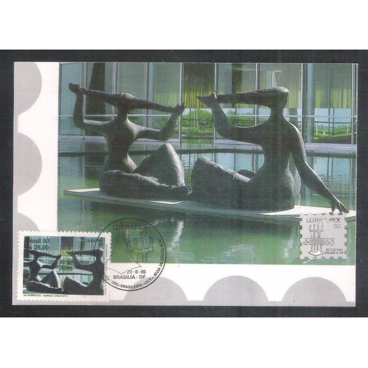 max145 - 1990 Luprapex - Esposição Filatélica. Esculturas, As Banhistas.