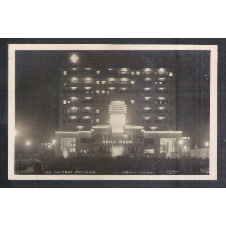 NT1 - Foto Postal Colombo, Niterói, Casino Icarahi.Grill Room