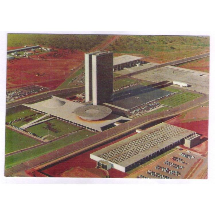 BA01 - Postal antigo, Brasília, Congresso.