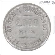 1907 - 2000 Réis, prata, bc.