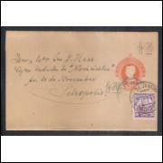 CT-22 - Brasil - Cinta de 40 Réis, Cabeça da Liberdade, fecho obtuso, circulada em 1921.