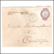 EN-45 - Envelope de 200 Réis, Cabeça da Liberdade, circulado 1904 de S.Matheus - Curitiba