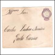 EN-45 - Envelope de 200 Réis, Cabeça da Liberdade, circulado 1900 de Irati para Ponta Grossa