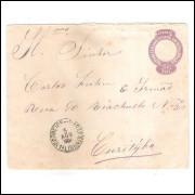 EN-46 - Envelope de 200 Réis, Cabeça da Liberdade, oval fechada, circulado em 5 Agosto 1904.