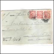Ev-07 - Envelope de 500 Réis, para remessa de valor, tela de linha grosso, circulado