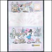 Ref. 03 - Carta Bilhete, aerograma, 1998, Mickey, nova.