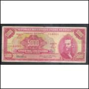 C110 - 5.000 Cruzeiros 1965 Estampa 2a Valor Legal, Dênio Nogueira-Otávio G. Bulhões, bc. Tiradentes