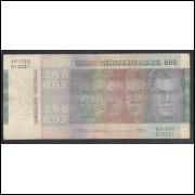 C149 - 500 Cruzeiros 1974, Série A01088, Simonsen/Paulo Lira, bc. Comemorativa, Evolução das Raças