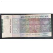 C149 - 500 Cruzeiros 1974, Série A00887, Simonsen/Paulo Lira, bc. Comemorativa, Evolução das Raças