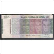 C149 - 500 Cruzeiros 1974, Série A00181, Simonsen/Paulo Lira, bc. Comemorativa, Evolução das Raças