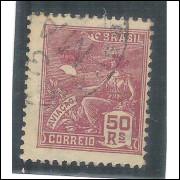 1929 - 263 -  Série Vovó, 50 Réis, filigrana EUBRASIL em acróstico. Novo com goma, MINT.
