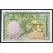 Vietnam do Sul (P.2), 5 Dong, 1955, FE.