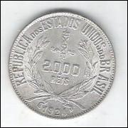 1924 - 2000 Réis, prata, FC.