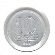 1958 -  10 Centavos, alumínio.