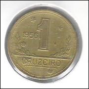 1956 - 1 Cruzeiro, bronze-alumínio, s/fc.