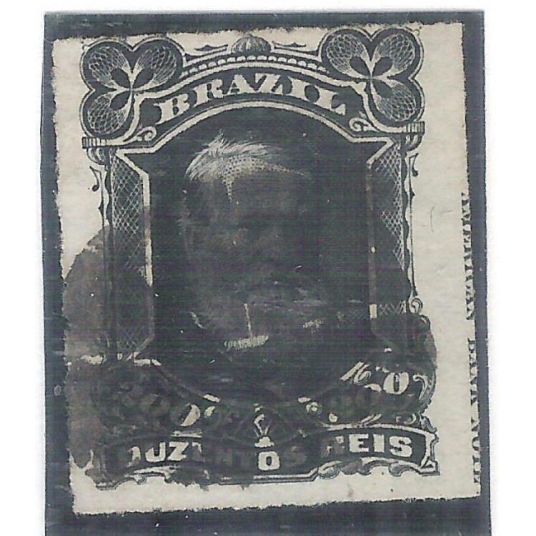 I-42L Brasil Império, 1877, 200 Réis, Dom Pedro II, Barba Branca, COM LEGENDA.