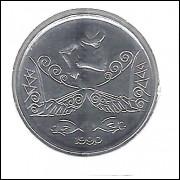 1990 -  5 Centavos, aço, fc. Pescador.
