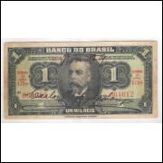 R193b - 1 Mil Réis, ano: 1923, Banco do Brasil, 1a estampa, com 2 assinaturas. Campos Salles.