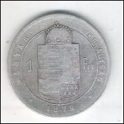 Hungria, 1 Forint 1879, Prata .900 - Diâmetro: 28 mm 12,3 g