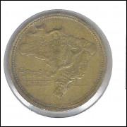1944 - 1 Cruzeiro, SEM SIGLA, bronze-alumínio, mbc.