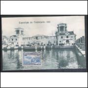 RJ150 Cartão Postal com porte de 100 Réis, circulado, Exposição do Centenário - 1922.