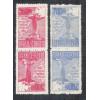 1934 - C-80/81tb  Visita do Cardeal Pacelli (Pio XII), Série da 3a tiragem, TÊTE-BÊCHE, novo.